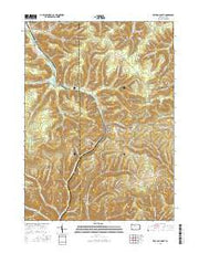 Keating Summit Pennsylvania Current topographic map, 1:24000 scale, 7.5 X 7.5 Minute, Year 2016 from Pennsylvania Maps Store