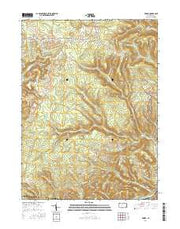 Kersey Pennsylvania Current topographic map, 1:24000 scale, 7.5 X 7.5 Minute, Year 2016 from Pennsylvania Maps Store