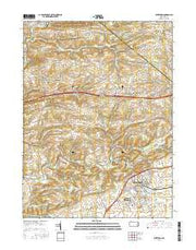Kutztown Pennsylvania Current topographic map, 1:24000 scale, 7.5 X 7.5 Minute, Year 2016 from Pennsylvania Maps Store