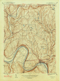Laceyville Pennsylvania Historical topographic map, 1:24000 scale, 7.5 X 7.5 Minute, Year 1947