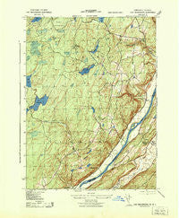 Lake Maskenozha Pennsylvania Historical topographic map, 1:31680 scale, 7.5 X 7.5 Minute, Year 1943