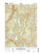 Lake Ariel Pennsylvania Current topographic map, 1:24000 scale, 7.5 X 7.5 Minute, Year 2016 from Pennsylvania Map Store