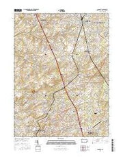 Lansdale Pennsylvania Current topographic map, 1:24000 scale, 7.5 X 7.5 Minute, Year 2016 from Pennsylvania Maps Store