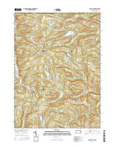 Laurel Lake Pennsylvania Current topographic map, 1:24000 scale, 7.5 X 7.5 Minute, Year 2016