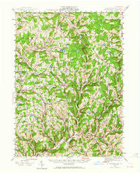 Le Raysville Pennsylvania Historical topographic map, 1:62500 scale, 15 X 15 Minute, Year 1943