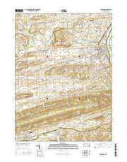 Lewisburg Pennsylvania Current topographic map, 1:24000 scale, 7.5 X 7.5 Minute, Year 2016 from Pennsylvania Maps Store