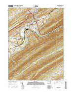Lewistown Pennsylvania Current topographic map, 1:24000 scale, 7.5 X 7.5 Minute, Year 2016 from Pennsylvania Map Store