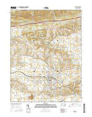 Lititz Pennsylvania Current topographic map, 1:24000 scale, 7.5 X 7.5 Minute, Year 2016 from Pennsylvania Maps Store
