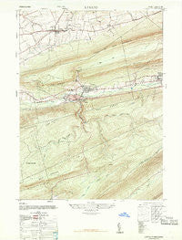 Lykens Pennsylvania Historical topographic map, 1:24000 scale, 7.5 X 7.5 Minute, Year 1947