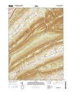Madisonburg Pennsylvania Current topographic map, 1:24000 scale, 7.5 X 7.5 Minute, Year 2016 from Pennsylvania Map Store