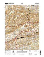 Malvern Pennsylvania Current topographic map, 1:24000 scale, 7.5 X 7.5 Minute, Year 2016 from Pennsylvania Maps Store