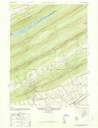 Manada Gap Pennsylvania Historical topographic map, 1:24000 scale, 7.5 X 7.5 Minute, Year 1947