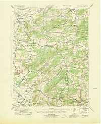 Manatawny Pennsylvania Historical topographic map, 1:31680 scale, 7.5 X 7.5 Minute, Year 1943