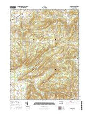 Manatawny Pennsylvania Current topographic map, 1:24000 scale, 7.5 X 7.5 Minute, Year 2016 from Pennsylvania Maps Store