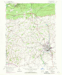 Manheim Pennsylvania Historical topographic map, 1:24000 scale, 7.5 X 7.5 Minute, Year 1955