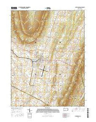 Martinsburg Pennsylvania Current topographic map, 1:24000 scale, 7.5 X 7.5 Minute, Year 2016