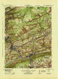 Mauch Chunk Pennsylvania Historical topographic map, 1:62500 scale, 15 X 15 Minute, Year 1943
