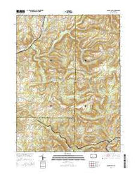 McGees Mills Pennsylvania Current topographic map, 1:24000 scale, 7.5 X 7.5 Minute, Year 2016