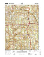 Mercer Pennsylvania Current topographic map, 1:24000 scale, 7.5 X 7.5 Minute, Year 2016 from Pennsylvania Map Store