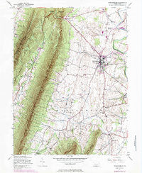Mercersburg Pennsylvania Historical topographic map, 1:24000 scale, 7.5 X 7.5 Minute, Year 1943