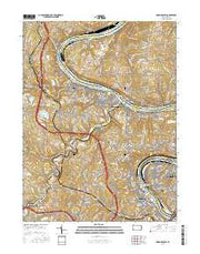 Monongahela Pennsylvania Current topographic map, 1:24000 scale, 7.5 X 7.5 Minute, Year 2016 from Pennsylvania Maps Store