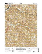 Mosgrove Pennsylvania Current topographic map, 1:24000 scale, 7.5 X 7.5 Minute, Year 2016 from Pennsylvania Maps Store