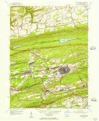 Mount Carmel Pennsylvania Historical topographic map, 1:24000 scale, 7.5 X 7.5 Minute, Year 1955