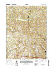 Mount Chestnut Pennsylvania Current topographic map, 1:24000 scale, 7.5 X 7.5 Minute, Year 2016 from Pennsylvania Maps Store