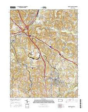 Mount Pleasant Pennsylvania Current topographic map, 1:24000 scale, 7.5 X 7.5 Minute, Year 2016 from Pennsylvania Maps Store