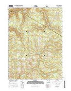 Munderf Pennsylvania Current topographic map, 1:24000 scale, 7.5 X 7.5 Minute, Year 2016 from Pennsylvania Map Store