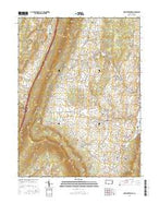 New Enterprise Pennsylvania Current topographic map, 1:24000 scale, 7.5 X 7.5 Minute, Year 2016 from Pennsylvania Map Store