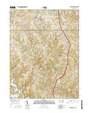 New Freedom Pennsylvania Current topographic map, 1:24000 scale, 7.5 X 7.5 Minute, Year 2016 from Pennsylvania Maps Store