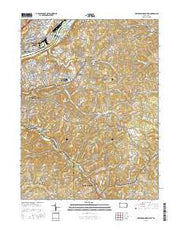 New Kensington East Pennsylvania Current topographic map, 1:24000 scale, 7.5 X 7.5 Minute, Year 2016 from Pennsylvania Maps Store