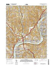 New Kensington West Pennsylvania Current topographic map, 1:24000 scale, 7.5 X 7.5 Minute, Year 2016 from Pennsylvania Maps Store