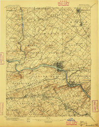 Norristown Pennsylvania Historical topographic map, 1:62500 scale, 15 X 15 Minute, Year 1896