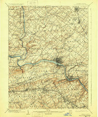 Norristown Pennsylvania Historical topographic map, 1:62500 scale, 15 X 15 Minute, Year 1895