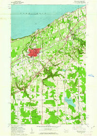 North East Pennsylvania Historical topographic map, 1:24000 scale, 7.5 X 7.5 Minute, Year 1960