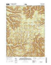 Norwich Pennsylvania Current topographic map, 1:24000 scale, 7.5 X 7.5 Minute, Year 2016 from Pennsylvania Maps Store