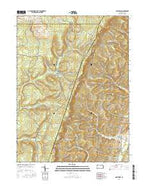 Ogletown Pennsylvania Current topographic map, 1:24000 scale, 7.5 X 7.5 Minute, Year 2016 from Pennsylvania Map Store