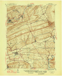 Orwigsburg Pennsylvania Historical topographic map, 1:31680 scale, 7.5 X 7.5 Minute, Year 1947