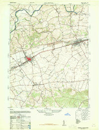 Palmyra Pennsylvania Historical topographic map, 1:24000 scale, 7.5 X 7.5 Minute, Year 1947