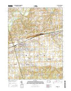Palmyra Pennsylvania Current topographic map, 1:24000 scale, 7.5 X 7.5 Minute, Year 2016 from Pennsylvania Map Store