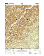 Penfield Pennsylvania Current topographic map, 1:24000 scale, 7.5 X 7.5 Minute, Year 2016 from Pennsylvania Map Store