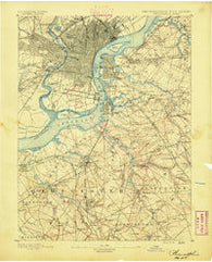 Philadelphia Pennsylvania Historical topographic map, 1:62500 scale, 15 X 15 Minute, Year 1891