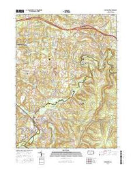 Philipsburg Pennsylvania Current topographic map, 1:24000 scale, 7.5 X 7.5 Minute, Year 2016