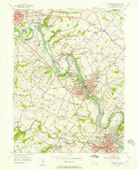Phoenixville Pennsylvania Historical topographic map, 1:24000 scale, 7.5 X 7.5 Minute, Year 1955