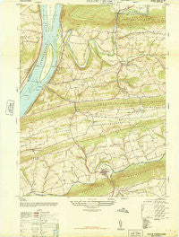 Pillow Pennsylvania Historical topographic map, 1:24000 scale, 7.5 X 7.5 Minute, Year 1947
