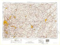 Pittsburgh Pennsylvania Historical topographic map, 1:250000 scale, 1 X 2 Degree, Year 1954