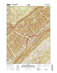Port Matilda Pennsylvania Current topographic map, 1:24000 scale, 7.5 X 7.5 Minute, Year 2016