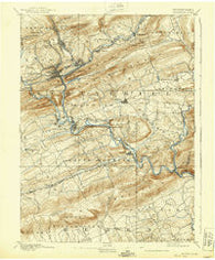 Pottsville Pennsylvania Historical topographic map, 1:62500 scale, 15 X 15 Minute, Year 1891